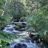 Mountaineer Creek upstream from the bridge
