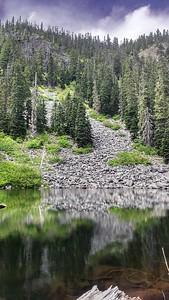 Rockslide above High Lake