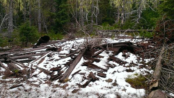Collapsed Rho Ridge Guard Station