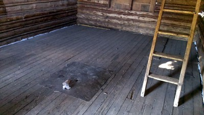 Inside cabin at Olallie Meadow