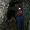 The tunnels were just big enough to walk through - later we had to duck to make it through them - they were not very big