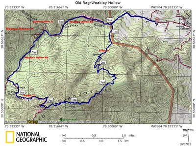 Hikes Risy - Old rag map