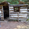 Old log cabin near Canyon Creek crossing