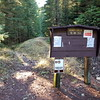 New Dickey Creek Trailhead - about a half mile back from where it used to be