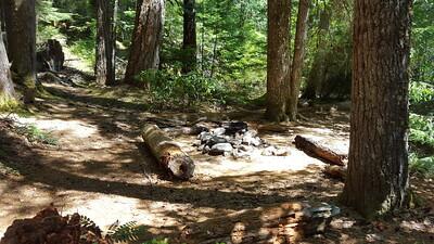Neat campsite on Elk Lake Creek trail