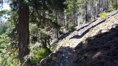 Rockslide on Elk Lake Creek trail