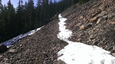 Grouse Point Trail - just a little bit of snow