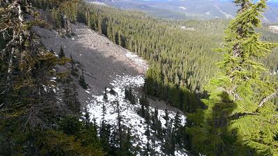 Rockslide below Rimrock overlook