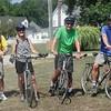 post-hike bikers