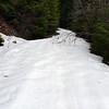 """4635 road where the Cripple Creek trail crosses it.  The snow was 6-12"""" deep."""