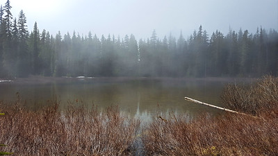 Clouds rolling across Lake at Cache Meadow