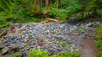 One of the MANY washouts from side creek/drainages that seem to occur almost yearly.