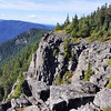 The cool rock formation from the overlook on the Rimrock trail