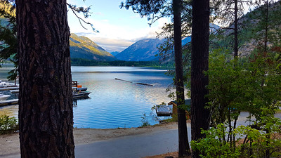 View from our  room at the lodge - Stehekin, Washington