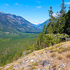 View looking north from Beullers Bluff - Stehekin, Washington