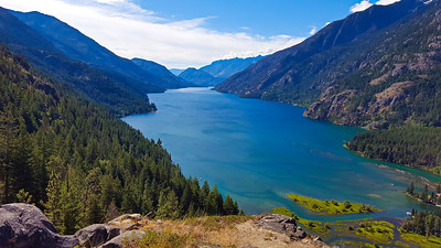 View of Lake Chelan - looking South  from Beullers Bluff - Stehekin, Washington