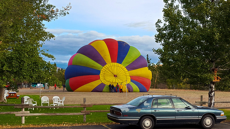 Hot Air Balloon getting ready to take off in Winthrop