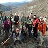 hikers on Big Devil Falls overlook