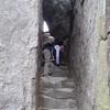 Gary climbs basalt intrusion