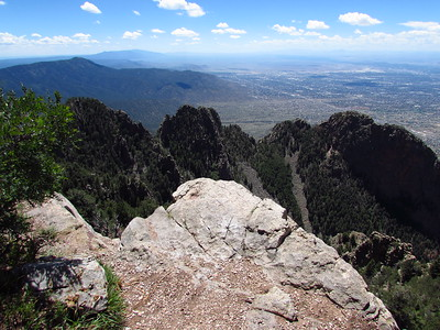 Sandia Mtns. - Sandia Crest to Tram and Return  8-14-17