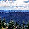 Mt Jefferson, Three Sisters from Bull of the Woods Lookout