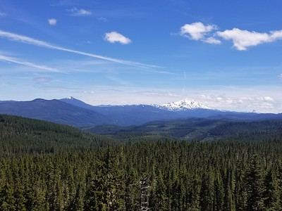 View from the rockslide on the Burnt Granite Trail