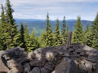 View from top of Burnt Granite - looking east