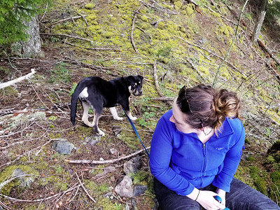 Carly and Thor on   Cripple Creek Trail