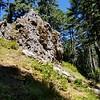 Interesting rock formationon Fish Creek Mountain trail