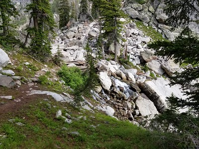 The stream below Delta Lake