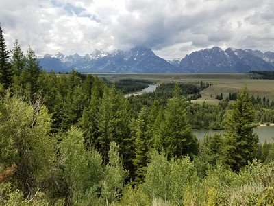 Snake River Overlook - this is where Ansel Adams took his famous Grand Tetons photo