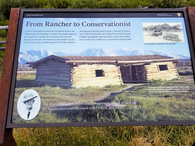Cunningham cabin interpretive display
