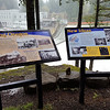 Interpretive signs at the dam overlook