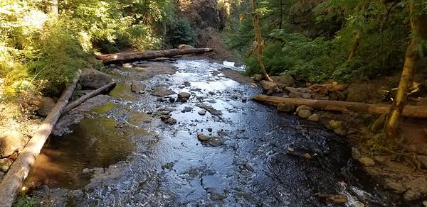 Oneota creek above triple falls