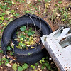 Tire from plane crash off Salmon Mountain Trail