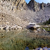 Small lake at the Imogene Lake trail junction