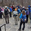 hikers ready to start from Washington Monument