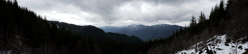 Panorama from upper rock field on Cripple Creek Trail