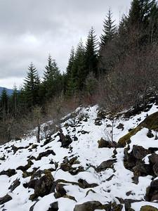 Upper Rockslide at Cripple Creek - below 4635 Crossing