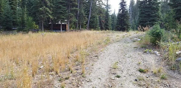 A small cabin next to the diversion dam