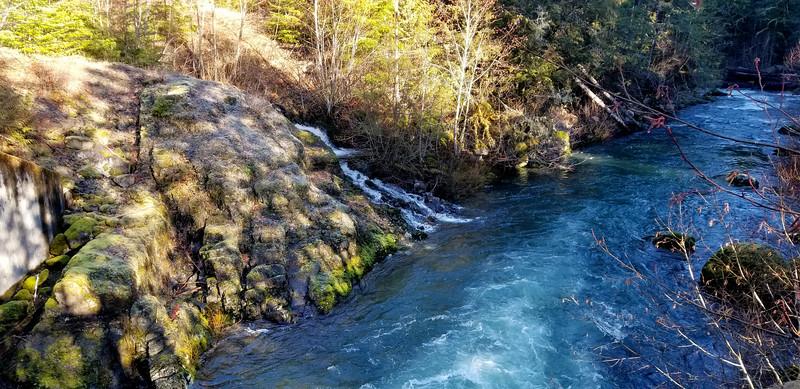 Fish Creek at first bridge crossing - un-named creek emptying into Fish Creek
