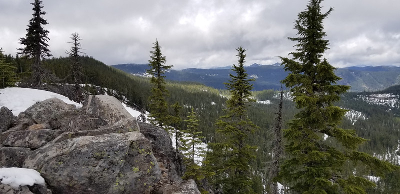Looking north from overlook area