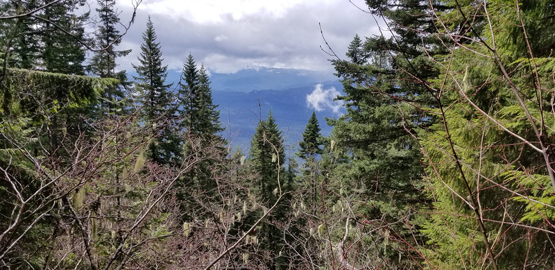 Another view of Oak Grove Butte from the first rockslide crossing - MP3 Trail