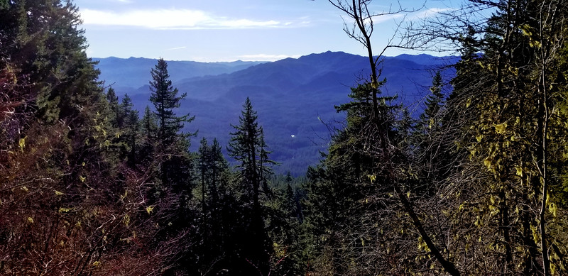 I think this is Fish Creek Mountain with the Clackamas river below - from the upper rockslide on the MP3 Trail