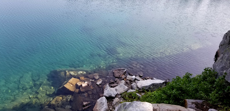 Minotaur Lake was so clear - and turquiose