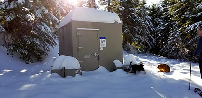 The radio repeater at the top of Squaw Mountain - there was a good bit of snow up there