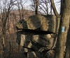 07 Blue blaze_boulder_Elk Ridge across Potomac