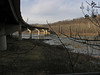 21 AT crosses under, then over  the Shenandoah River Bridge into WVa