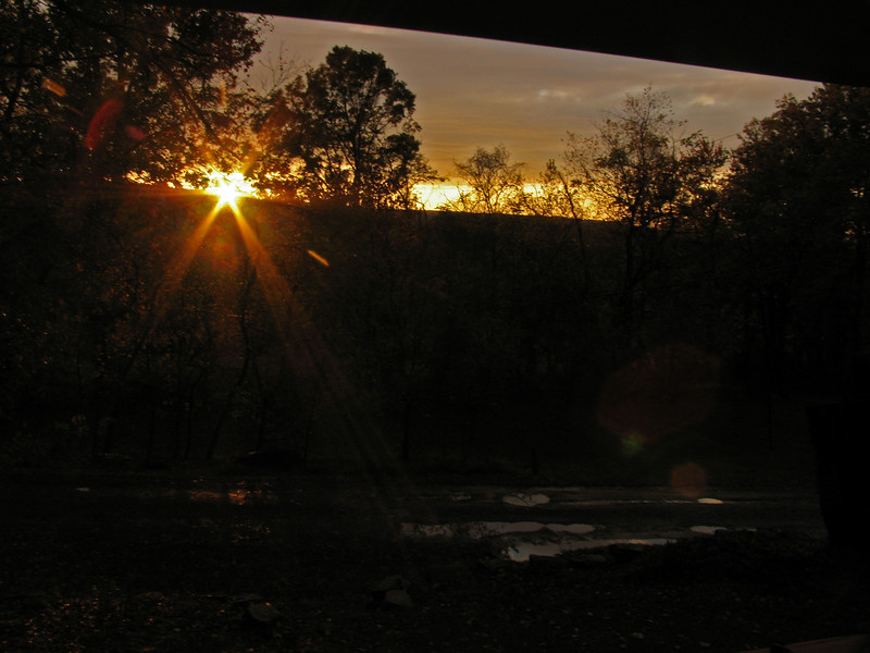 060  Sunset at the Treehouse Camp at Maple Tree
