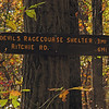 018 Blue blaze trailhead sign_mileage to Devil's Racecourse Shelter & Ritchie Rd